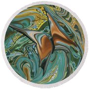 Bronze Butterfly Round Beach Towel