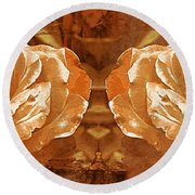 Bronzed Round Beach Towel