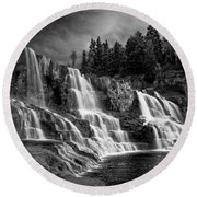 Brooding Gooseberry Falls Round Beach Towel