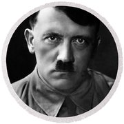 Brooding Portrait Of Adolf Hitler Heinrich Hoffman Photo Circa 1935 Round Beach Towel