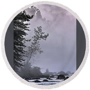 Brooding River Round Beach Towel