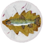 Brook Trout Round Beach Towel by Ralph Root