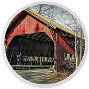 Brookdale Bridge Round Beach Towel