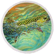 Brookie Flash Rework Round Beach Towel