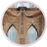 Brooklyn Bridge 2  Round Beach Towel