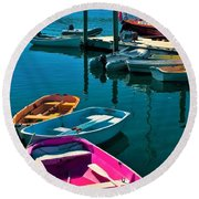 Brooklyn Harbor Round Beach Towel