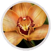 Brookside Orchid Round Beach Towel
