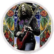 Brother Duane Round Beach Towel by Gary Kroman