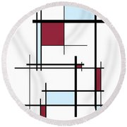 Brother Round Beach Towel by Ron Davidson
