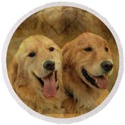 Brotherly Love Round Beach Towel