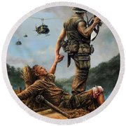 Brothers In Arms Round Beach Towel