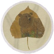 Brow Bear #2 Round Beach Towel by Ralph Root