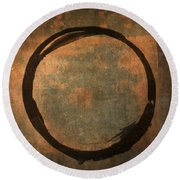Brown Enso Round Beach Towel