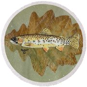 Brown Trout Round Beach Towel by Ralph Root