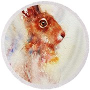 Brownie Bunny Round Beach Towel