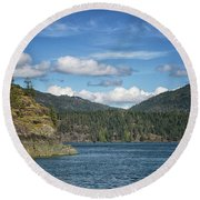 Browns Bay Round Beach Towel by Randy Hall