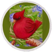 Brrr Bird Round Beach Towel