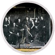 Bruce And The E Street Band Round Beach Towel