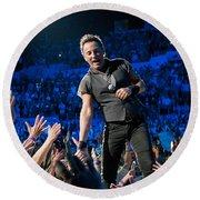 Bruce Springsteen La Sports Arena Round Beach Towel