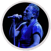 Bruce Springsteen-penn State 4-18-16 Round Beach Towel by Jeff Ross
