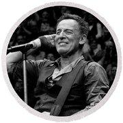 Bruce Springsteen - Pittsburgh Round Beach Towel