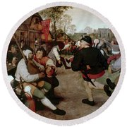 Bruegel, Peasant Dance Round Beach Towel