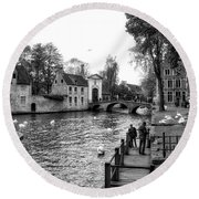 Bruges Bw3 Round Beach Towel