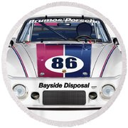 Brumos Porsche 935 Illustration Round Beach Towel