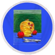 Brunch Round Beach Towel