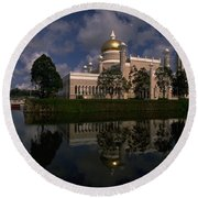 Brunei Mosque Round Beach Towel