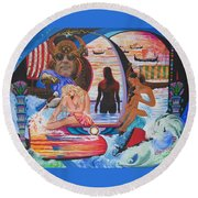 Godessess Enjoy The Nile Spa Round Beach Towel