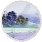 Bruny Island At Dusk Round Beach Towel