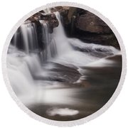 Brush Creek Falls Round Beach Towel