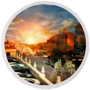 Brush Creek Kansas City Missouri Round Beach Towel