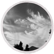 Brush Strokes Round Beach Towel by Russell Keating