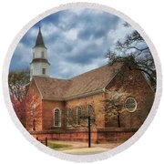 Bruton Parish Church Round Beach Towel
