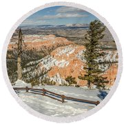 Bryce Amphitheater From Bryce Point Round Beach Towel