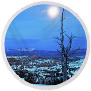 Bryce Blue Round Beach Towel