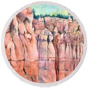 Bryce Canyon #1  Round Beach Towel