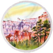 Bryce Canyon #3 Round Beach Towel
