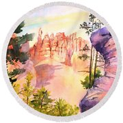 Bryce Canyon #4 Round Beach Towel