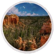 Bryce Canyon From The Top Round Beach Towel