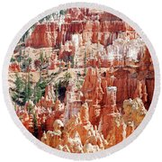 Bryce Canyon Hoodoos Round Beach Towel by Nancy Landry