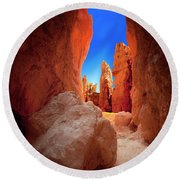 Bryce Canyon Narrows Round Beach Towel