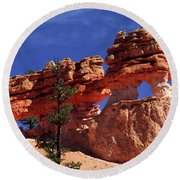 Round Beach Towel featuring the photograph Bryce Canyon National Park by Sally Weigand