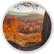 Bryce Canyon National Park Sunrise 2 - Utah Round Beach Towel
