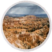 Bryce Canyon Storm Round Beach Towel