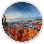 Bryce Canyon Sunrise Round Beach Towel