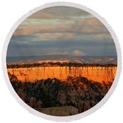 Bryce Canyon Sunset Round Beach Towel