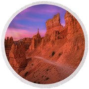 Bryce Trails Round Beach Towel